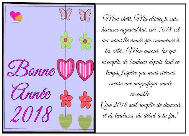 Magnifique carte de vœux 2018 originale