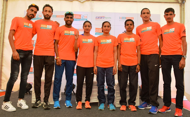 67 Indian Athletes to run in IDBI Federal Life Insurance New Delhi Marathon 2017