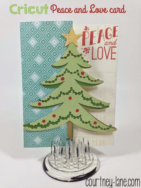 Peace and Love tree card