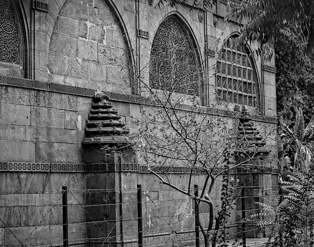 Western wall of sidi saiyyed mosque ahmedabad