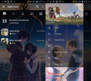 BBM MOD Tema Kimi No Nawa v3.3.0.16 APK Versi Terbaru
