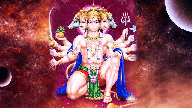 God Hanuman Panchamukhi HD Wallpaper