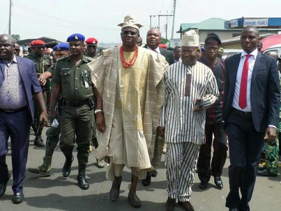 Checkout Fayose's Dressing To The Olubadan Of Ibadan's Coronation Today