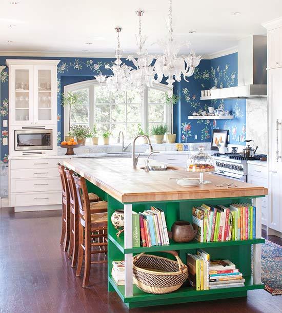 Green Kitchen Countertops: DIY Kitchen Island With IKEA Butcher Block Countertop