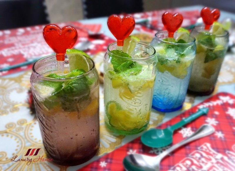 christmas bubbly fruit infused spritzer recipe