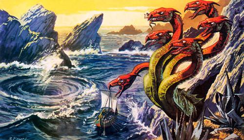 Scylla dan Charybdis monster laut yang sangat ganas