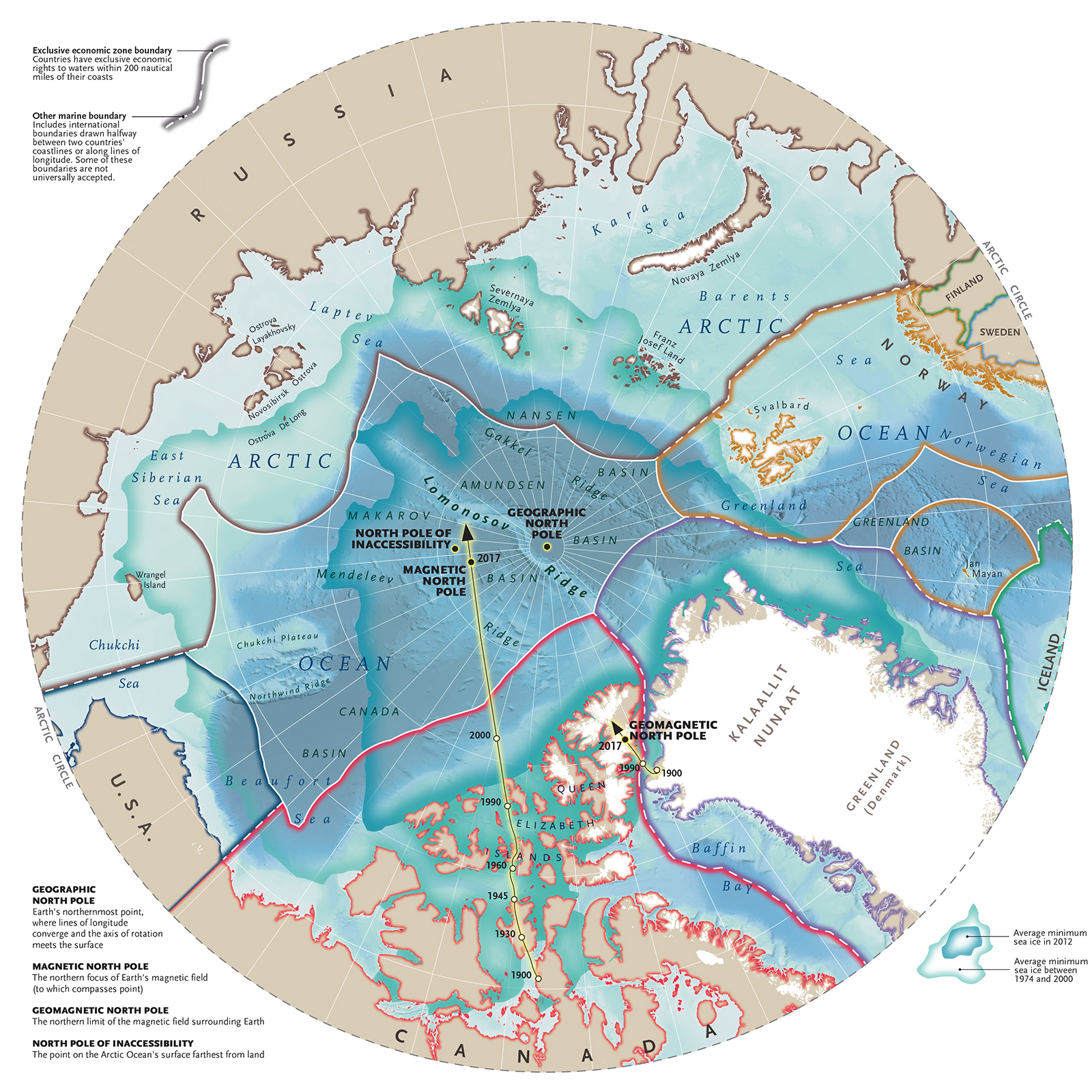North Pole Map Map of the Week: The Four North Poles North Pole Map