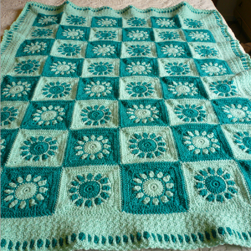 Sunrise Sunset Baby Blanket - Free Pattern