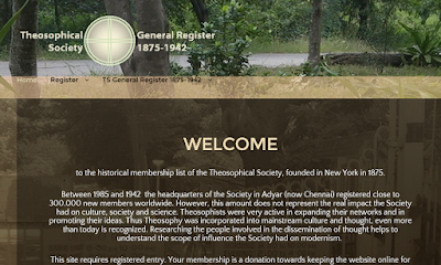 Membership list Theosophical Society www.tsmembers.org