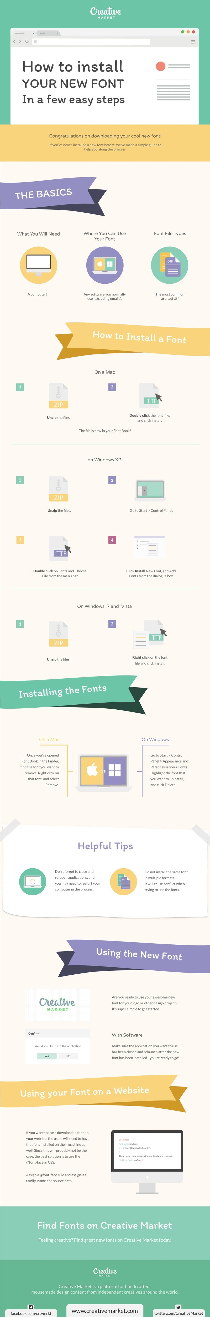 How to Install Your New Font in a Few Easy Steps - #infographic
