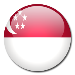 Image result for bendera singapura bulat