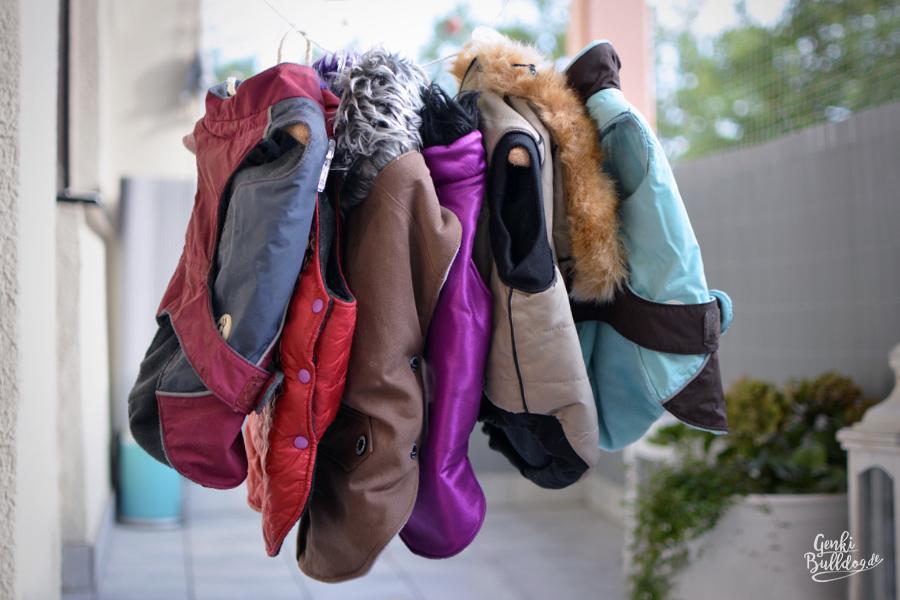 Hundemantel Wintermantel warme Kleidung für Französische Bulldoggen oder Mops