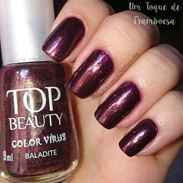 Swatch do esmalte Top Beauty baladite
