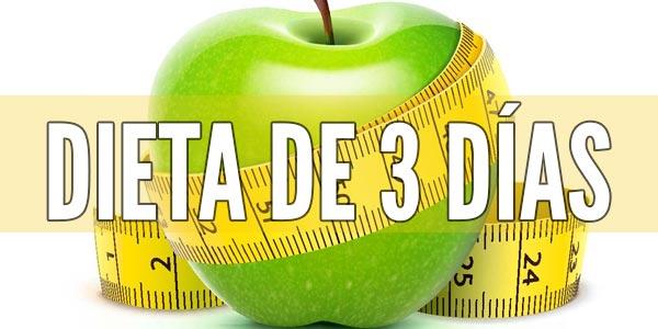 ¿como bajar de peso en 3 dias ? Dieta de 3 dias solo.
