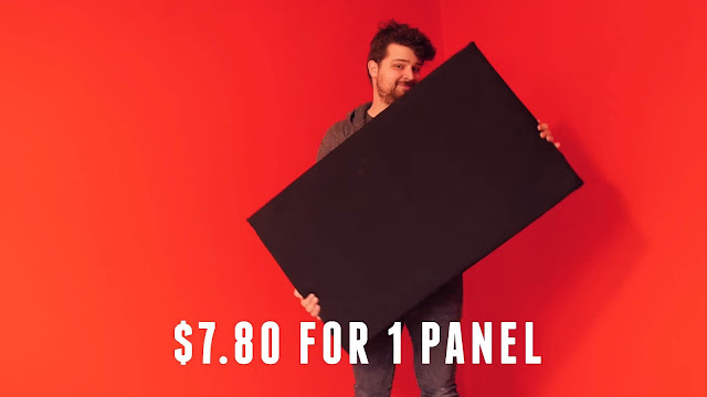 DIY Sound Absorption panels for Home Recording Studio
