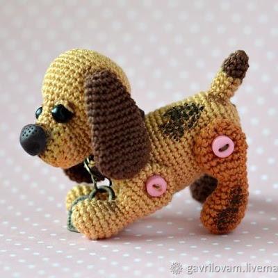 Вязаная собака крючком