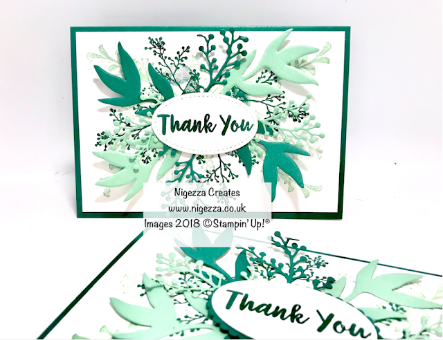 Frosted floral Stampin Up