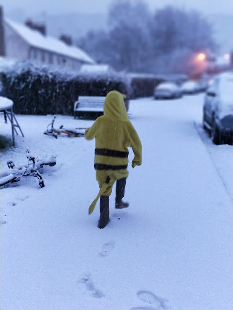 pikachu in the snow