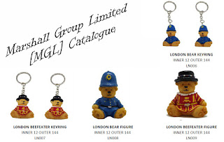 Beefeater Novelty Figurines, Brown Bears, Catalogue Image, Key Rings, London Tourist Keepsakes, Marshall Group Limited, MGL, Police Figures, Polyurethane Resin, PU Resin, Resin Bears, Resin Statuettes, Teddy Bears, Tourist Keepsake, Tourist Mascot, Tourist Trinket, Toy Bears,