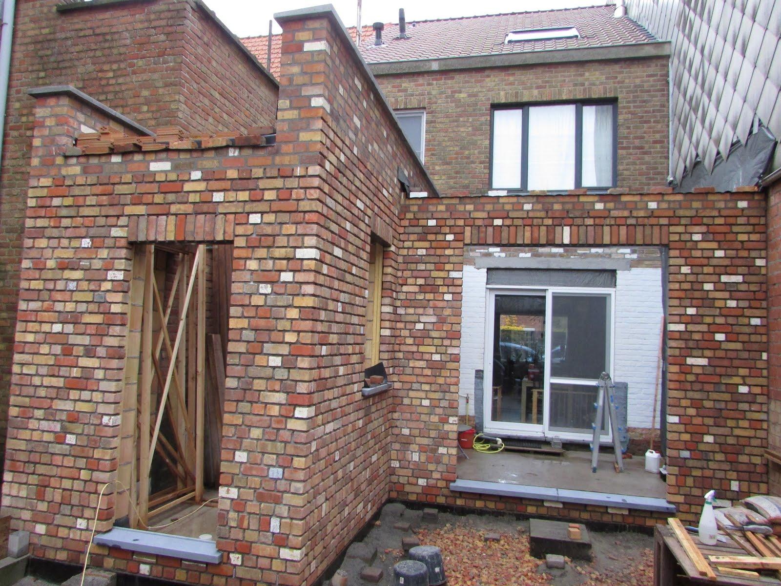 Verbouwing van ons ouderlijk huis ruwbouw uitbreiding 51 - Stenen huis uitbreiding ...