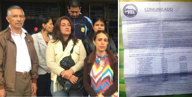 Piden medidas de protección para docentes amenazados por protestar