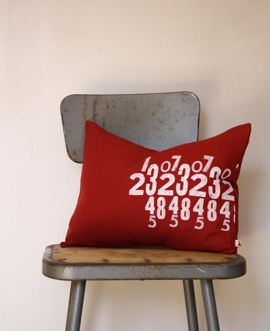 number pillow