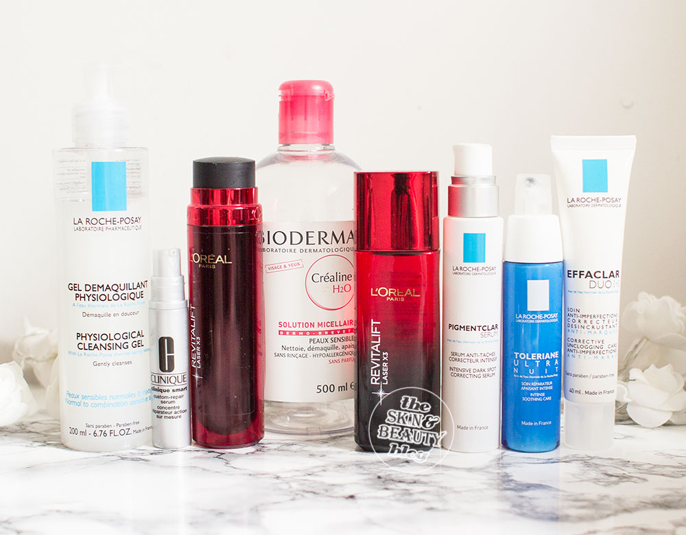 Skincare from Clinique, L'oreal, Bioderma, La Roche-Posay Review
