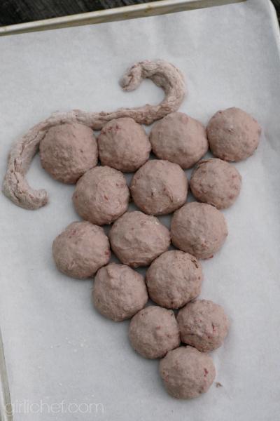 formed dough for Beaujolais Bread Rolls #BreadBakingBabes