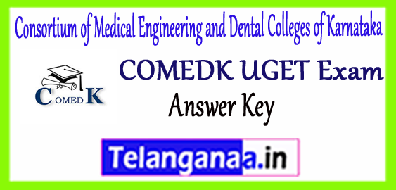 COMEDK UGET Consortium of Medical Engineering and Dental Colleges of Karnataka Answer Key 2018 Result Counselling
