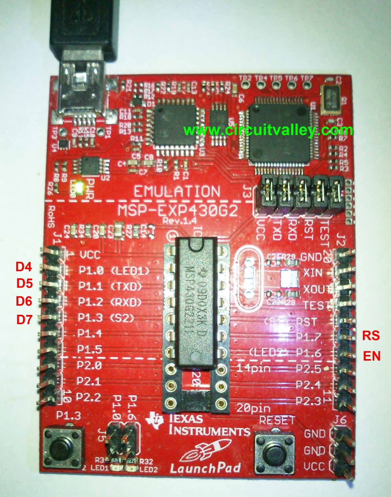 Embedded Engineering : 16x2 Char LCD with TI MSP430 Launch Pad