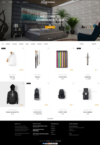 Constance, theme premium de Wordpress para eCommerce