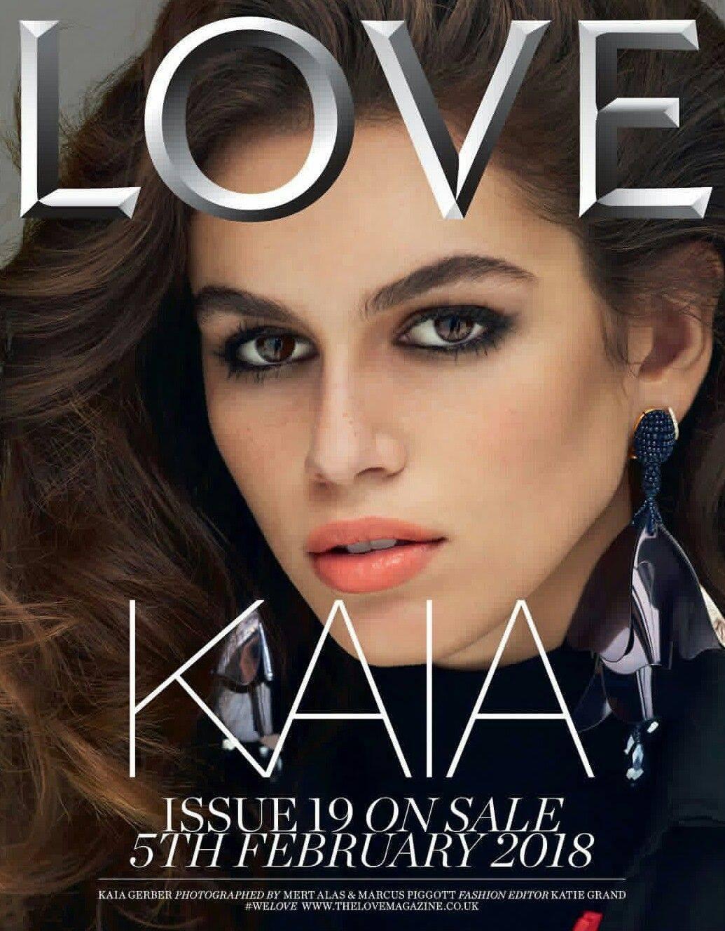 Love Magazine Spring 2018 Kaia Gerber by Mert & Marcus