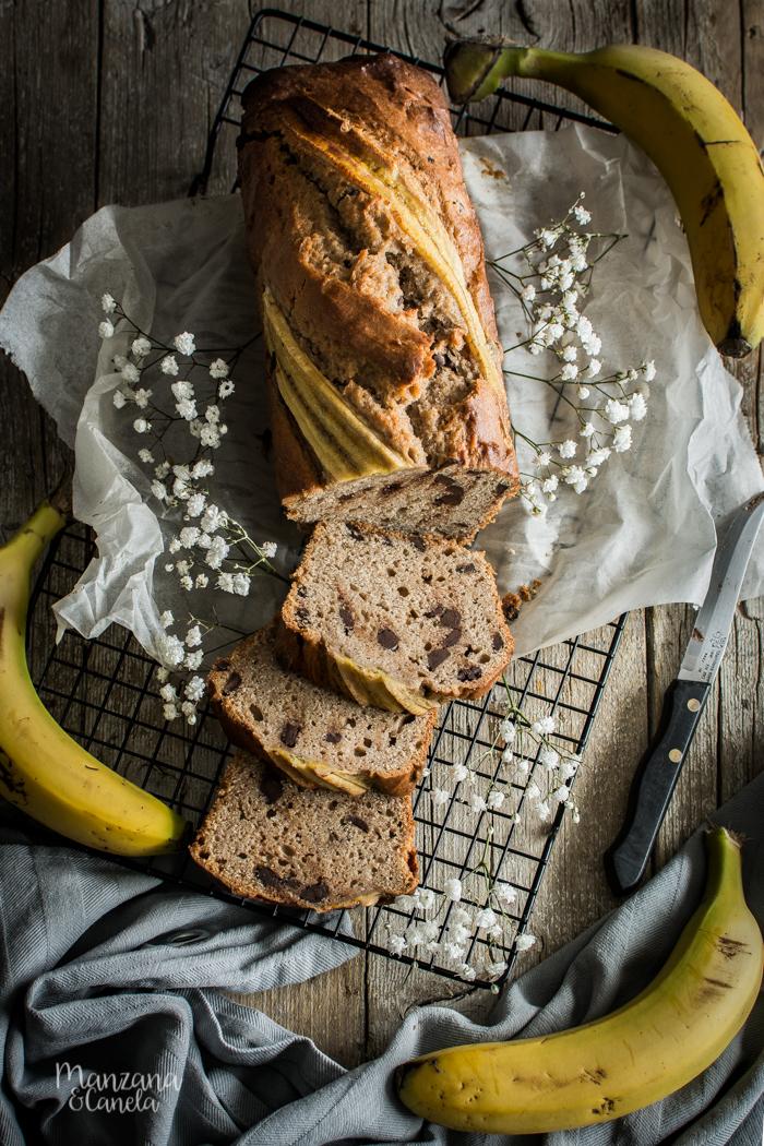 Banana bread o pan de plátano.