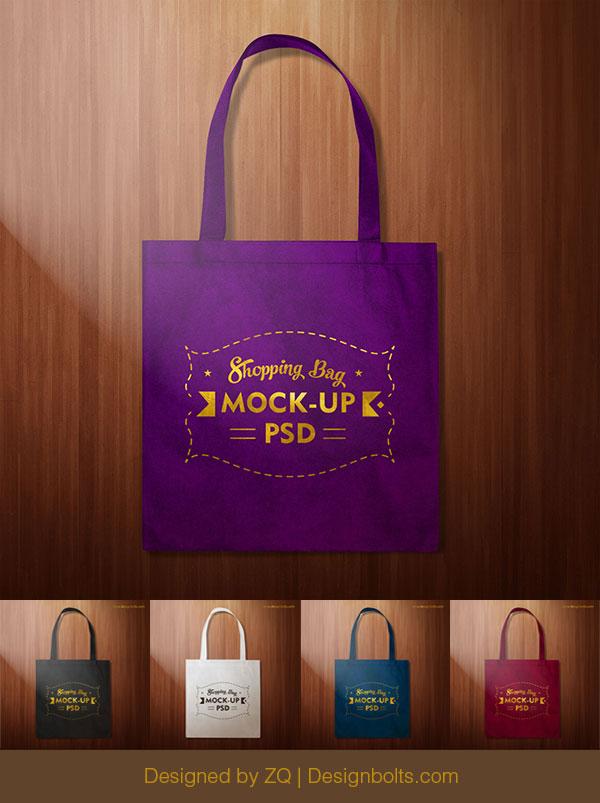 Black Shopping Bag Mockup PSD
