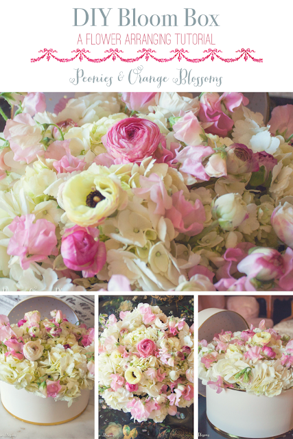 How to make a flower bloom box - flower arranging tips