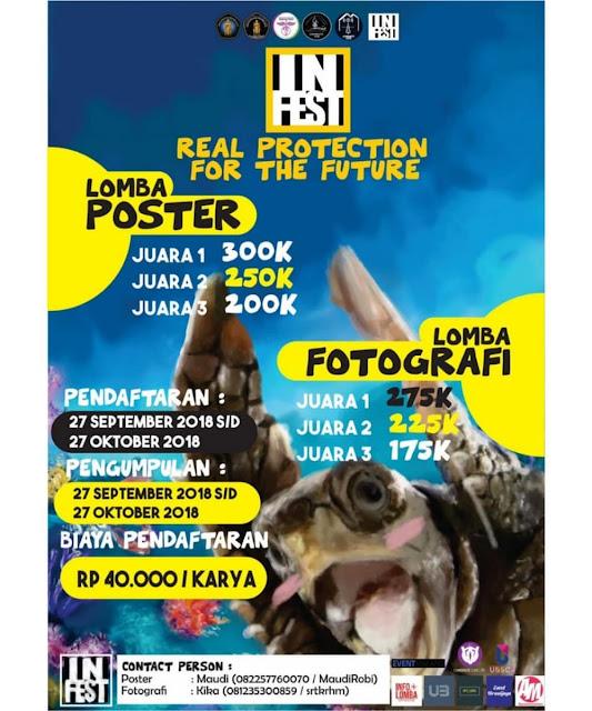 Contest Poster Dan Fotografi INFEST 2018 di UB