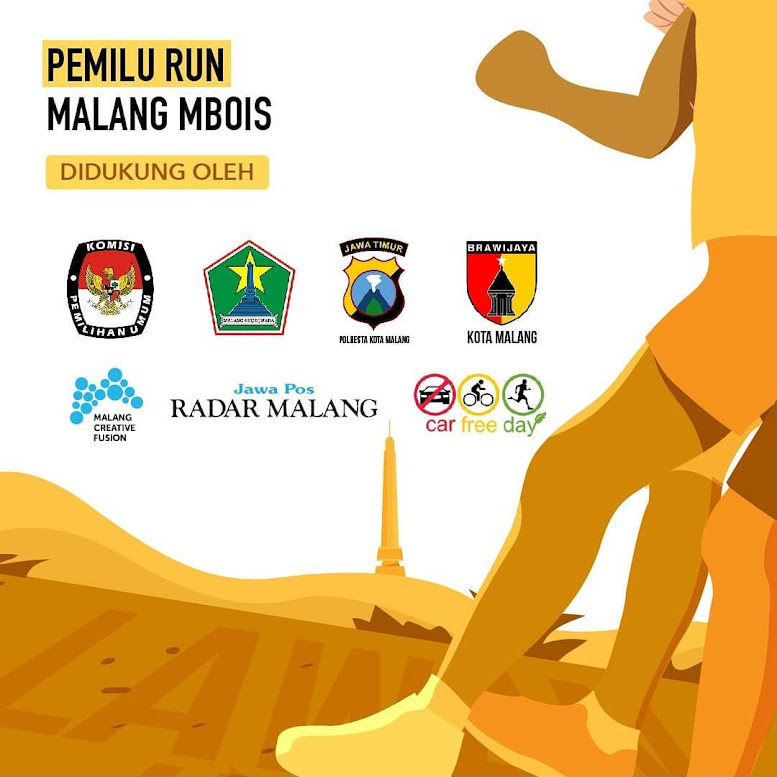 Media Pemilu Run Malang Mbois 2019