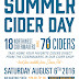 Cider Festival: Port Townsend: Summer Cider Day is August 6th, from 12pm to 5pm, at the Northwest Maritime Center