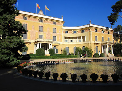 Pedralbes palace in Barcelona