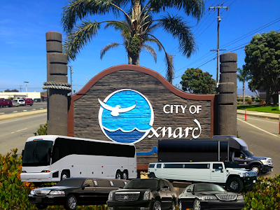 City of Oxnard sign with limo service