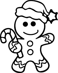 Click to see printable version of Gingerbread Man In Christmas Day Coloring page