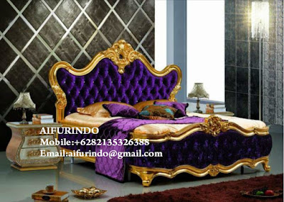 Classic bedroom Furniture Indonesia,European style furniture,Classic baroque style bedroom furniture, code A325