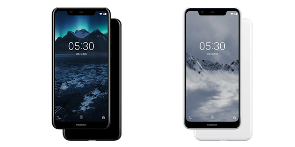Nokia X5 in black and white