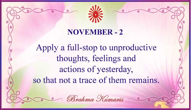 Thought For The Day November 2
