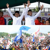 <b>Deklarasi Dibanjiri Massa Pendukung, Lutfi-Feri Resmi Mendaftar di KPUD</b>