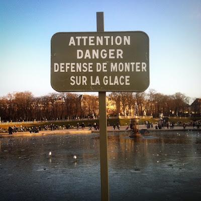 Etang gelé du Jardin du Luxembourg - Photo : Delphine R2M