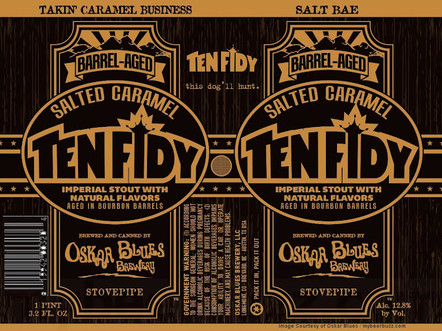 Oskar Blues BA Salted Caramel Ten Fidy Returns In 192.oz Cans