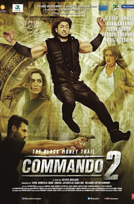 Commando 2 2017 Hindi DVDRip 480p 350mb ESub