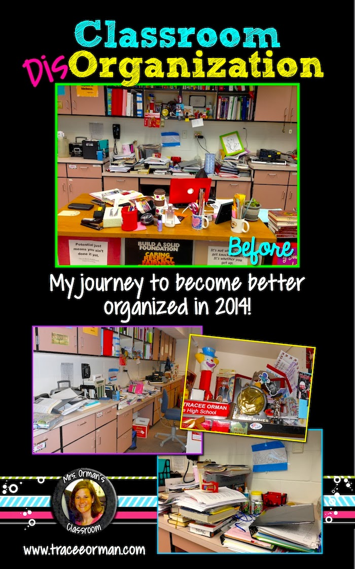 Classroom Disorganization: Organizing My Cluttered Classroom   {Follow my journey on www.traceeorman.com}