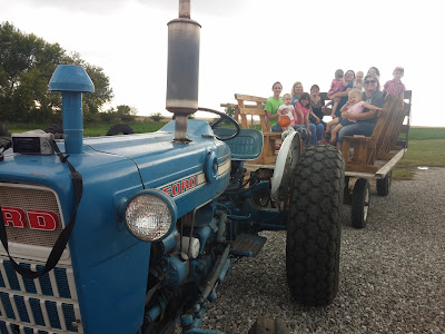 5 Ways to have Fall Family Fun at Enchanted Acres - Hay rack ride with the North Iowa Bloggers